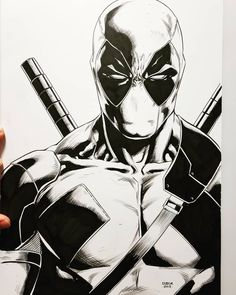 Jason Fabok's First Time Drawing Deadpool : Marvel Batman Drawing, Marvel Drawings, Comic Drawing, Disney Drawings, Deadpool Drawings, Marvel Comics Art, Marvel Comic Universe, Anime Comics, Comic Book Layout