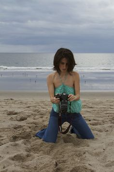 My first attempt at self-portraits at the beach - Venice Beach, California