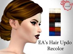 The Sims Resource: Hair Updo Recolor by taraab  - Sims 4 Hairs - http://sims4hairs.com/the-sims-resource-hair-updo-recolor-by-taraab/