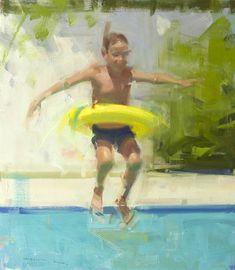 Sue Greenwood Fine Art | Artwork by David Shevlino | Leaping