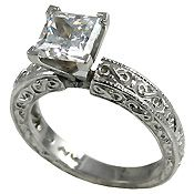 Antique Engagement Rings, Wedding Bands and Jewelry in 14k Gold with CZ / Cubic Zirconiahttp://www.e14k.com/antique2.htm