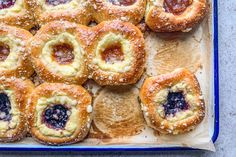 Andrea Slonecker demonstrates how to make kolaches with a cream cheese filling and various jams. Kolache Recipe Czech, Cream Cheese Kolache Recipe, Savory Kolache Recipe, Czech Desserts, Just Desserts, Dessert Recipes, Cream Cheese Danish, Cream Cheese Filling, Kitchen