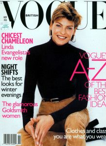 Linda Evangelista by Regan Cameron Vogue UK November 1996