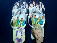 Custom One Direction Flip Flops One Direction Merch, One Direction Outfits, I Love One Direction, Five Guys, My Collection, Flipping, Boy Bands, Flip Flops, Things I Want