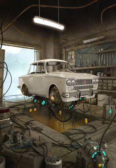 Fly Fiat 1500, Carmine Napolitano on ArtStation at http://www.artstation.com/artwork/fly-fiat-1500