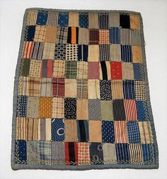 Antique Hand Stitched Doll Quilt ~ x 13 Good Shape ~ No Reserve Old Quilts, Antique Quilts, Scrappy Quilts, Small Quilts, Mini Quilts, Vintage Quilts, Baby Quilts, Crib Quilts, Primitive Quilts