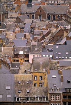 Rooftops, Liege, Belgium Copyright: Walter Bibikow/ Jon Arnold Images