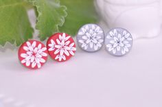 Polymer Clay Earrings Polymer jewelry Polymer clay by CraftStocks