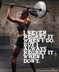So true, even if it's not the hardest workout, it was better than sitting on the couch thinking about doing it!