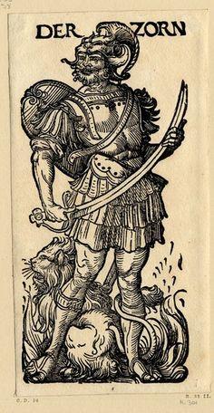 """""""Der Zorn"""", Serie """"Die sieben Laster"""", c.1510, Hans Burgkmair der Ältere (1473-1531)"""