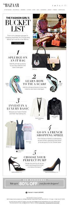 Harpers Bazaar list email