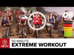 Extreme Fat Burning Workout - 50 Minute Indoor Cycling Class with pedal stroke…