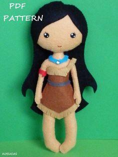 Patrón de costura de PDF para hacer una muñeca de por Kosucas