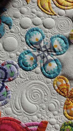 Harriot quilt, design by Sue Cody, appliqued by Beth. Quilting by Judi Madsen Quilting Stencils, Longarm Quilting, Hand Quilting, Machine Quilting Patterns, Quilt Patterns, Quilting Ideas, Quilting Blogs, Stitching Patterns, Quilting Projects