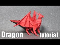 How to make an origami dragon - origami dragon (Henry Phạm) Origami Ball, Instruções Origami, Origami Envelope, Origami And Kirigami, Origami Fish, Origami Butterfly, Origami Folding, Useful Origami, Origami Design