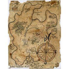 Everything Peter Pan / pirate treasure map
