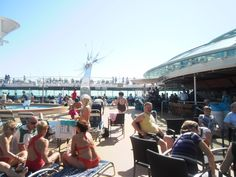Cubierta del barco en el Crucero para Singles por Capitales Bálticas en 2013