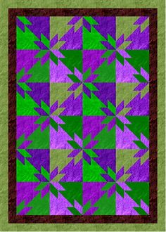 Hunters Square Quilt Pattern | myQuiltGenie Blog: Scrappy Hunters Star Quilt