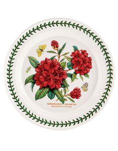 Botanic Garden Rhododendron 101 Plates: Botanic Garden Rhododendron  RHODODENDRON, $32; PORTMEIRION: 888-778-1471.