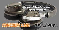 Concours #3 | Gagnez votre casque super classe Creative Aurvana Gold