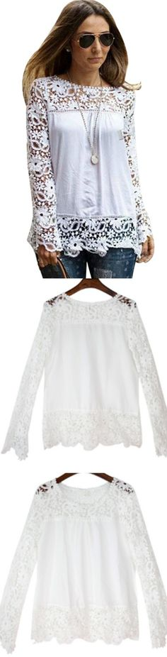Summer Lace Crochet White Tops! Click The Image To Buy It Now or Tag Someone You Want To Buy This For. #WhiteTops