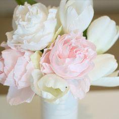 pünkösdi rózsa krepp papírból