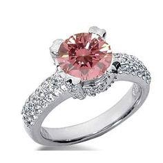 1.60 Karat Pink Diamant Ring aus 585er Weißgold. Ein Diamantring aus der Kollektion Pink von www.pearlgem.de