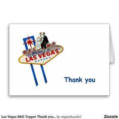 Las Vegas B&G Topper Thank you Cards