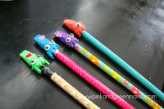 Inklessness aside, these Squid Eraser Pencil Toppers are going to get you into the jet set!