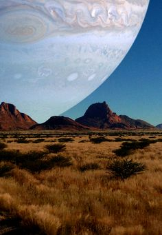 Jupiter, if it were as close as the moon
