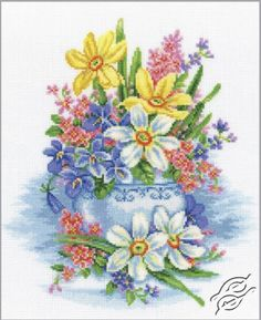 Gentle Flowers - Cross Stitch Kits by RTO - M276