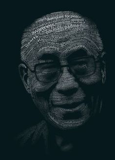 """Tribute to Dalai Lama by yatu-ex    """"There is no need for temples, no   need for complicated philosophies.   My brain and my heart are my temples;   my philosophy is kindness. """" ~ Dalai Lama"""