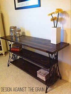 55 Ideas sewing machine table repurposed upcycled furniture for 2019 Furniture Projects, Furniture Makeover, Diy Furniture, Furniture Vintage, Furniture Outlet, Discount Furniture, Sewing Machine Tables, Antique Sewing Machines, Repurposed Furniture