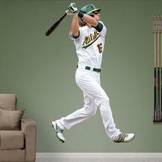 Josh Reddick REAL.BIG. Fathead Wall Graphic | Oakland Athletics Wall Decal | Sports Decor | Baseball Bedroom/Man Cave/Nursery