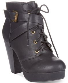 Material Girl Rhodes Lace-Up Platform Booties - Boots - Shoes - Macy's