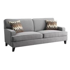 This Style and Maybe This Color, too. Coaster Company Grey Transitional Loveseat