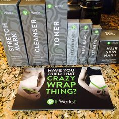 It works skin care line! AMAZING! Smooth, tighten, firm skin from head to toe. www.jacindas.myitworks.com