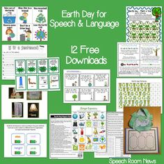 Speech Room News: 12 Earth Day Freebies for Speech and Language