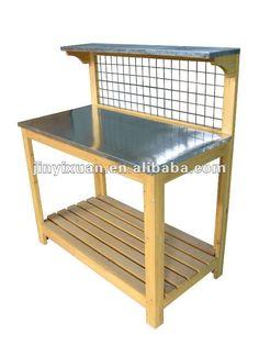 Wooden Garden Potting Bench