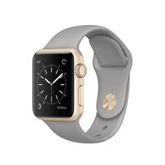 "Apple Watch Series 1 38mm Smartwatch (Gold Aluminum Case with Concrete Sport Band). Aluminum Chassis with Ion-X Glass 1.3"" 272 x 340 Display. Activity and Heart Rate Monitoring Changeable Faces with Widgets. Siri Integration Displays Notifications and Runs Apps. Taptic Alerts Apple Pay. Bluetooth 4.0, 802.11b/g/n Wi-Fi Apple watchOS 3."