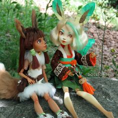 Leafeon Pokemon Eeveelution Custom OOAK doll by Dollightful