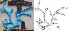 Luty Artes Crochet: Aplicações de bichos e molusco de crochê