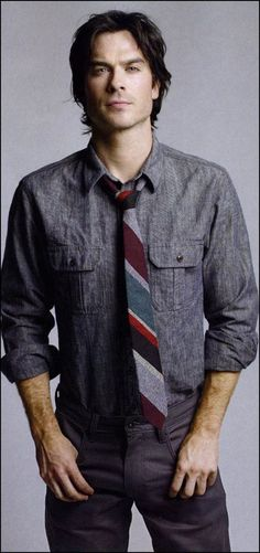 Ian Somerhalder - the tie and the shirt are perfect together!