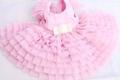 Beautiful  Pink dress for dog. lovely dogs dress. handmade dress for small dog. $168.00, via Etsy.