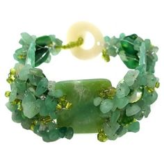 Chunky Jade Green Seashells Link Bracelet (Philippines) - Overstock™ Shopping - Great Deals on Aeravida Bracelets Gemstone Bracelets, Link Bracelets, Jade Bracelet, Gemstone Jewelry, Beautiful Earrings, Beautiful Necklaces, Mother Of Pearl Necklace, Jade Jewelry, Jewelry Accessories