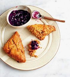 Buckwheat, Apple, and Creme Fraiche Scones | Recipe from The Violet Bakery Cookbook by Claire Ptak