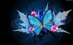 Abstract Flowers Butterfly Digital Art New HD Wallpaper