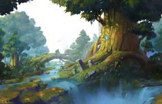 Fantasy Landscape Kingdom Animation Ideas For 2019 Environment Painting, Environment Concept Art, Environment Design, Fantasy Places, Fantasy World, Fantasy Art, Fantasy Landscape, Landscape Art, Fantasy Setting