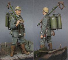 German flamethrower operator, 1915 | Figures | Gallery on Diorama.ru