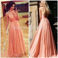 Nude Pink Sexy Keyhole Front Long Evening Party Dresses